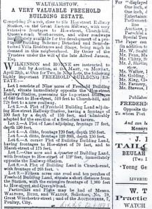 Development sale of Cedars Estate WLG April 1878