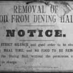 Workhouse silence in dining hall