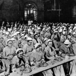Workhouse women eating Poplar c1900