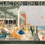 Clacton 1920s railway poster