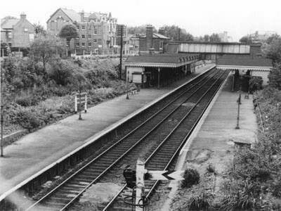 Queens Road Station from above