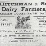 1906 Hitchman's Advert