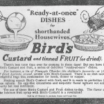 1916 Birds Custard Advert
