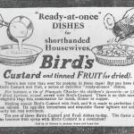 1916 Birds Custard Advert