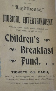 Poverty Children's breakfast fund concert 1899