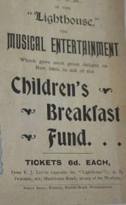 Poverty Children's breakfast fund concert 1899