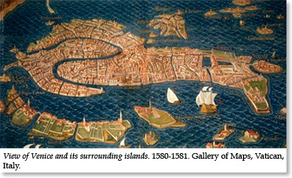 Venice 16C map from Vatican Library