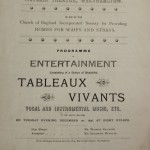 Victoria Theatre tableaux vivants 1896 programme