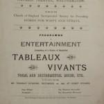 Victoria Theatre tableaux vivants 1896 programme